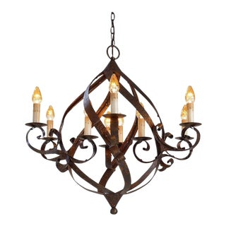 Currey and Company Gothic Iron Gramercy Chandelier