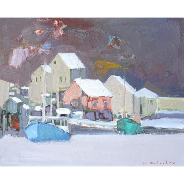 Fishing Village Oil Painting by Murat Kaboulov - Image 1 of 2