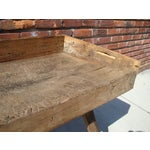 Image of Primitive Wood Butcher Block Table