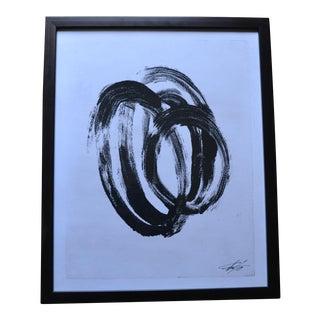 Black Abstract Print