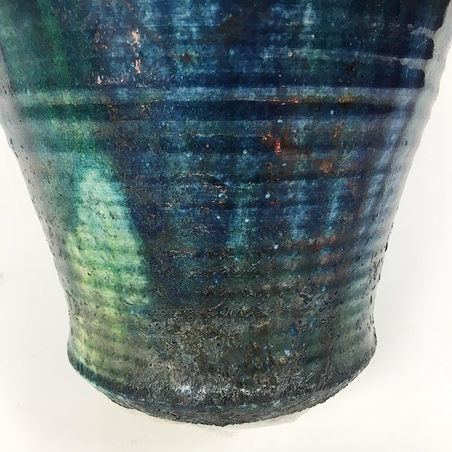 Vintage California Modern Style Drip Glaze Vase - Image 6 of 8