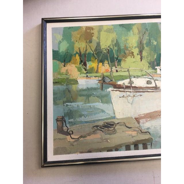 Stefan Lokos Boat At the Marina Painting - Image 7 of 11