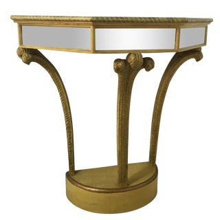 Vintage Italian Mirrored Console Table