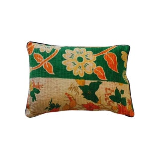 Floral Kantha Pillow Cover