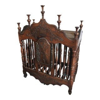 French Louis XV Walnut Panetiere