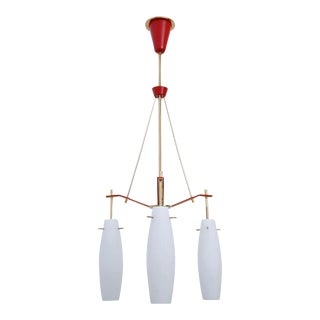 Red Stilnovo Chandelier