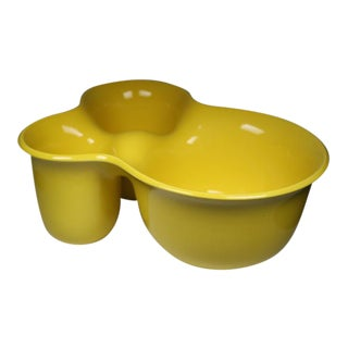 Modern Italian Vibrant Yellow Ceramic Bowl