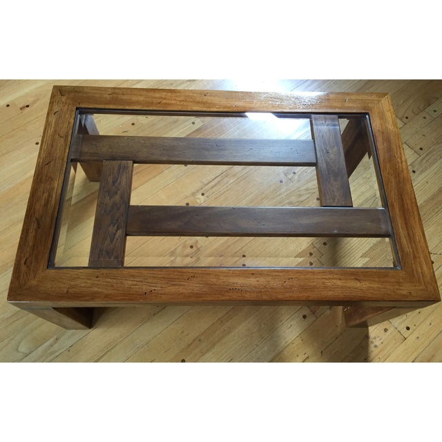 Drexel Heritage Coffee Table With Beveled Glass - Image 5 of 7
