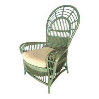 Ficks Reed Rattan Bamboo Fan Back Arm Chair
