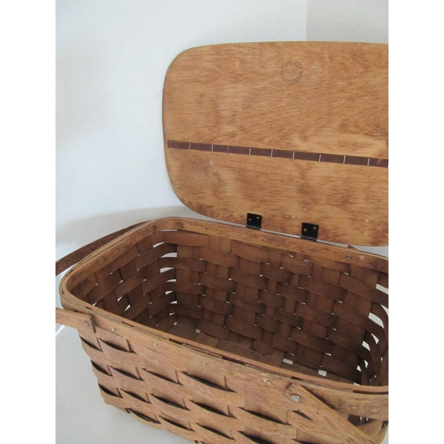 Image of Vintage Basketville Picnic Basket