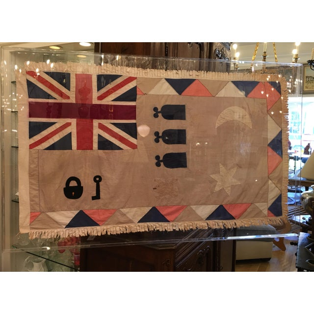 Antique British Colony Flag in Lucite Frame - Image 3 of 7