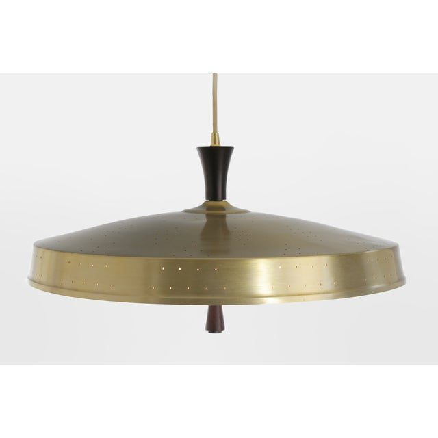 Image of Classic 50s Pendant With Murano Glass Shade