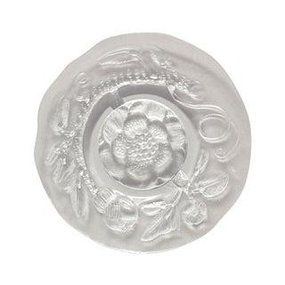 Nuutajarvi Finland Pioni Glass Serving Platter