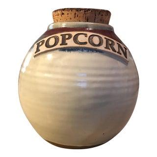 Handmade Popcorn Pottery Jar