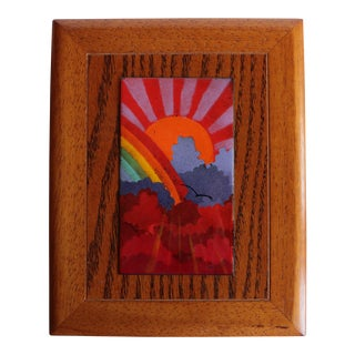 Autumn Rainbow Enameled Copper Jewelry Box