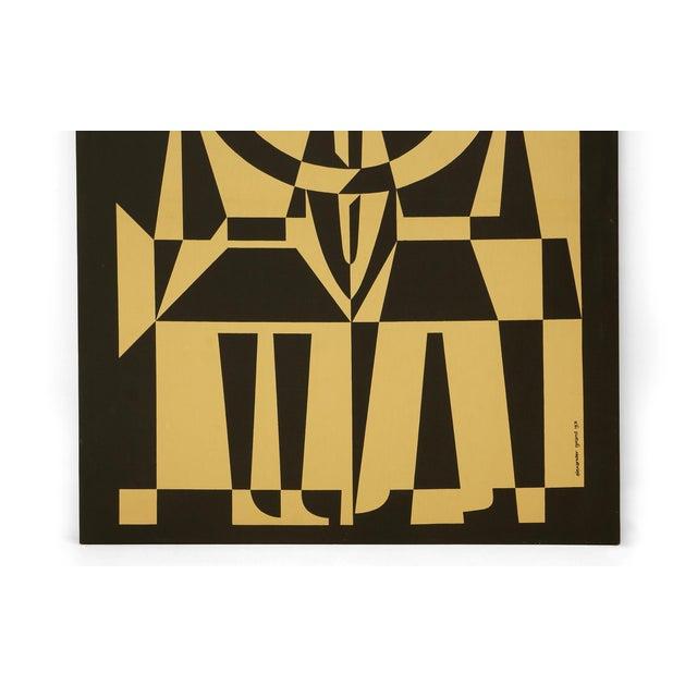"Alexander Girard Man Woman ""Environmental Enrichment Panel"" Fabric Art, 1971 - Image 3 of 6"