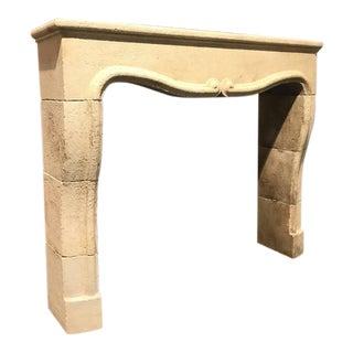 Hand-Carved Limestone Mantel