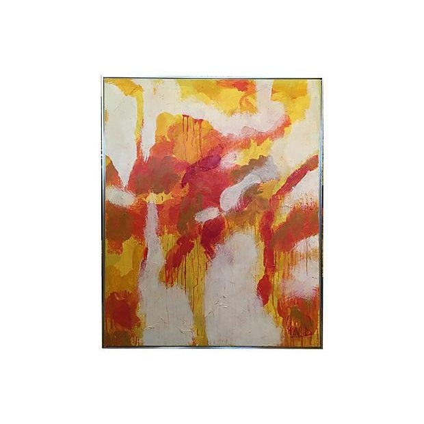Image of Lee Reynolds Mid-Century Abstract Oil Painting