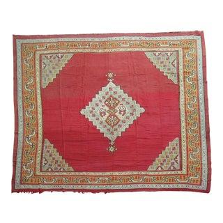 Antique Turkish Kilim Flat Weave Rug - 12'4'' X 12'8''