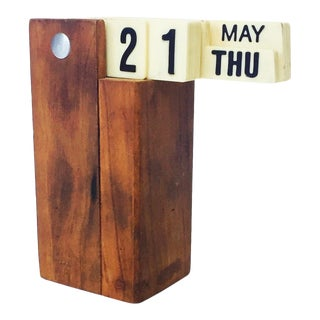 Mid Century Modern Perpetual Flip Calendar