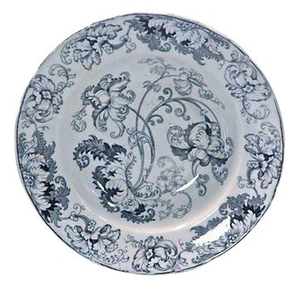Antique Blue and White English Acanthus Leaf Bowl