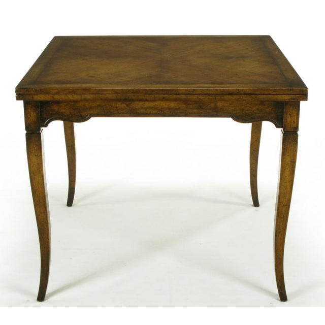 Old Colony Furniture Walnut Flip Top Games Table - Image 7 of 10