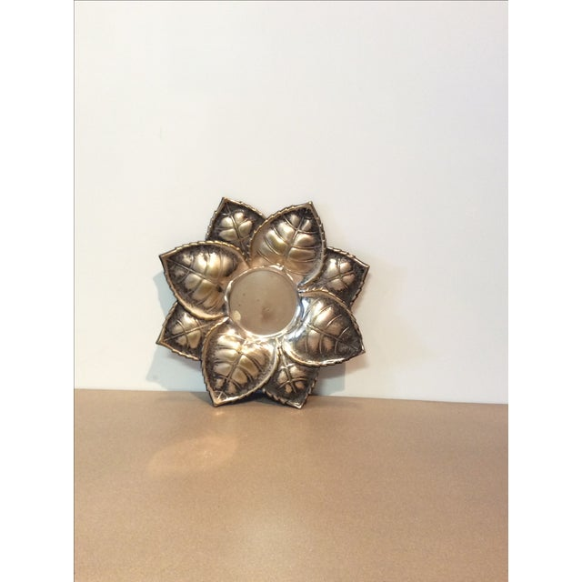 Metal Floral Candle Holder - Image 2 of 6