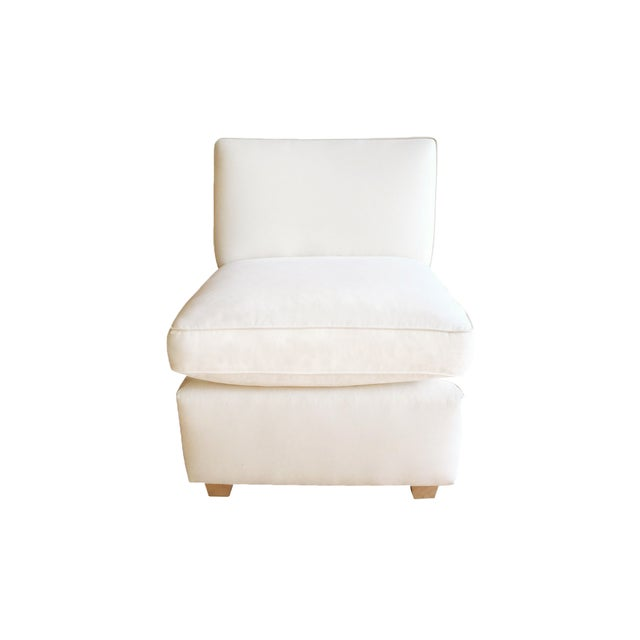 Slipper Chair + Custom Upholstery Service - Image 1 of 5