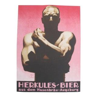 Vintage German Beer Poster 1926 Herkules Beer