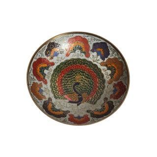 Enamel Peacock Dish