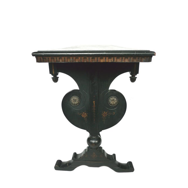 Chinoiserie Decorated Wooden Console Table - Image 6 of 10