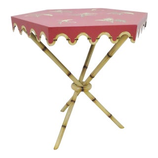 Metal Paint Decorated Side Table