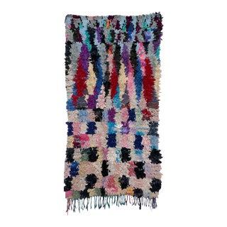 Moroccan Boucherouite Rag Carpet - 3′2″ × 5′8″