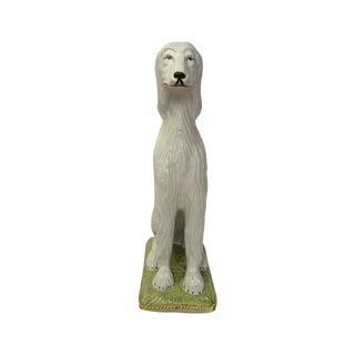 Italian Ceramic Afghan Hound Statue