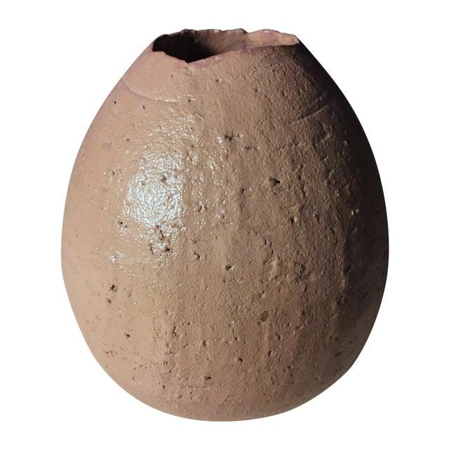 Art Pottery Taupe Bud Vase - Image 1 of 6