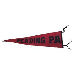 Antique Reading Pa Felt Flag Banner Pennant