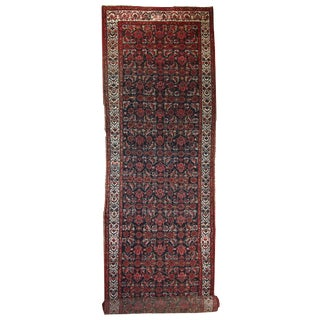 1920s Hand Made Antique Persian Malayer Runner - 3′6″ × 13′6″