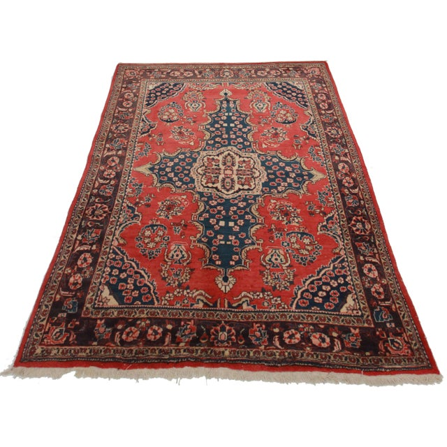 RugsinDallas Vintage Hand Knotted Persian Mahal Rug - 6′10″ × 10′5″ - Image 2 of 2