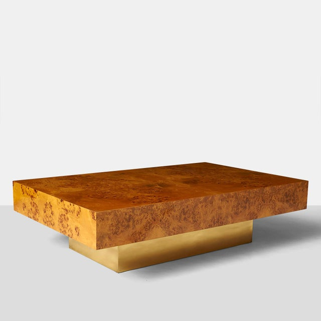 A Milo Baughman Burled Wood Coffee Table   Image 2 of 4. High End A Milo Baughman Burled Wood Coffee Table   DECASO