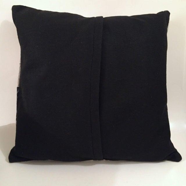 Mid-Century Modern Atomic Barkcloth Pillow - Image 4 of 4