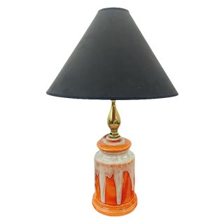 Retro Orange Glazed Ceramic Lamp