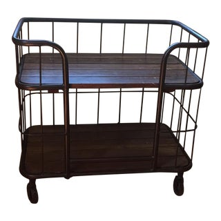Interlude Industrial Bar Cart