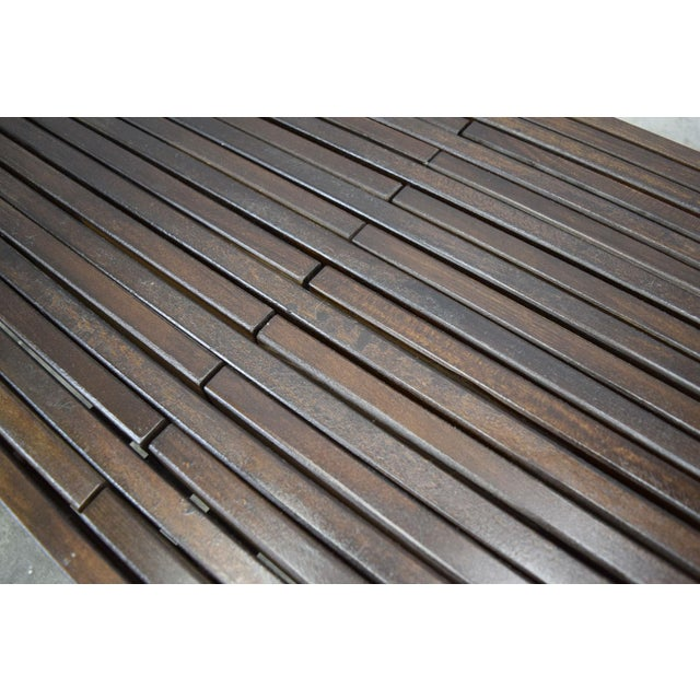 John Keal for Brown Saltman Mid-Century Expandable Slat Bench or Table - Image 8 of 10