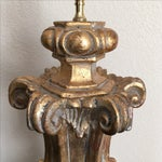 Image of Carved Gilt Wood Table Lamp