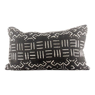 Checks Black African Mudcloth Pillow
