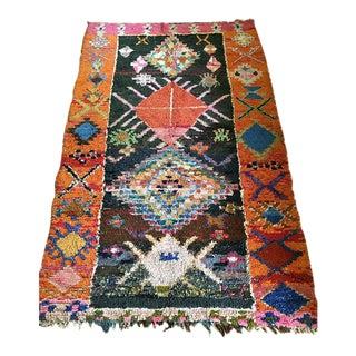 Vintage Moroccan Boucherouite Rug - 4′4″ × 7′