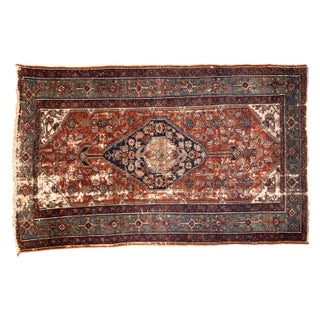 "Antique Distressed Bibikabad Rug - 3'10"" x 6'3"""