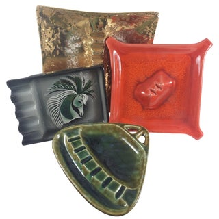 Mid-Century Assorted Ashtrays - Set of 4