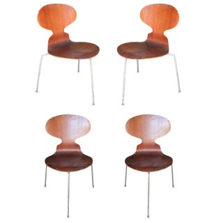 "Arne Jacobsen ""Ant"" Side Chairs, Set of Four"