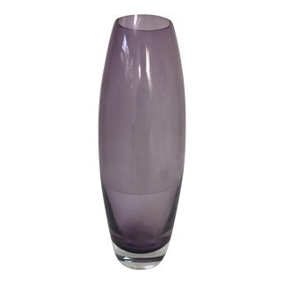 Purple Glass Bullet Vase